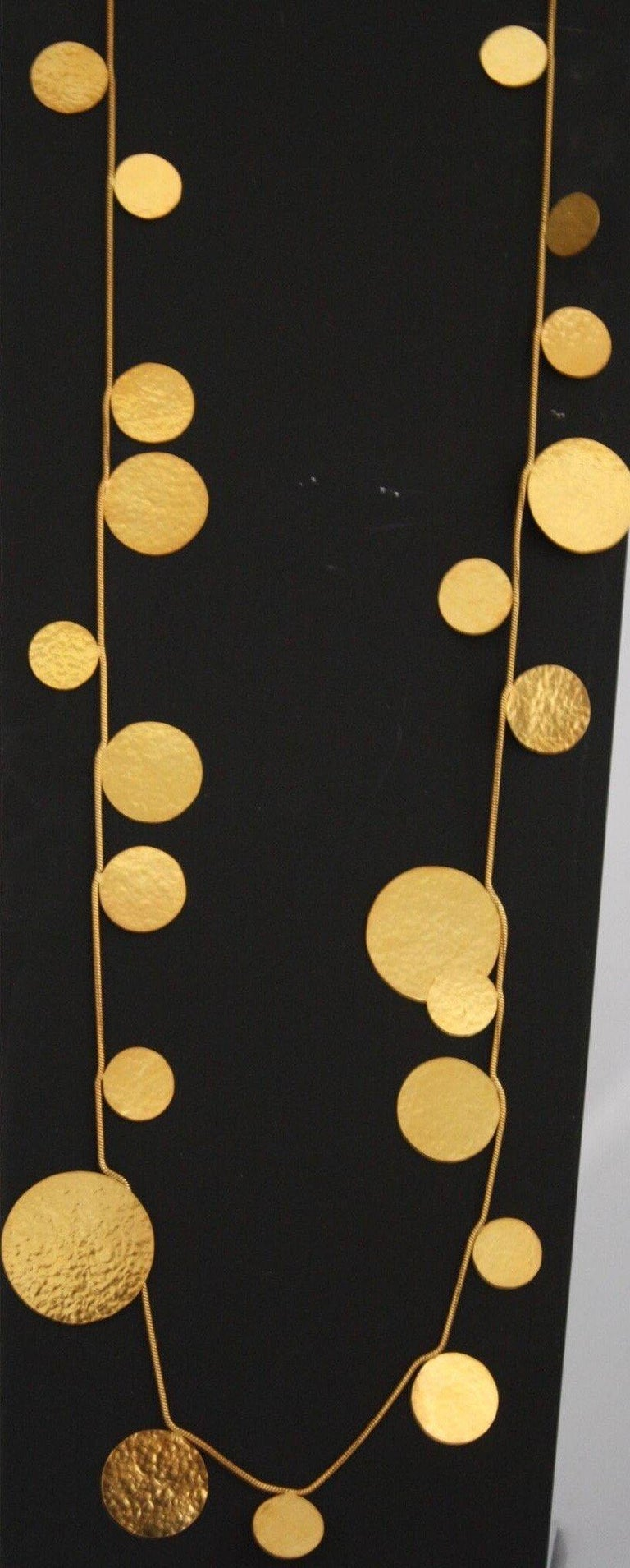 Modern Herve van der Straeten Gilded Brass Circle Sautoir For Sale