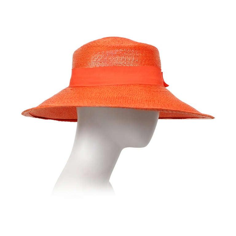 Yves Saint Laurent Tangerine Runway Summer Resort Hat YSL ...