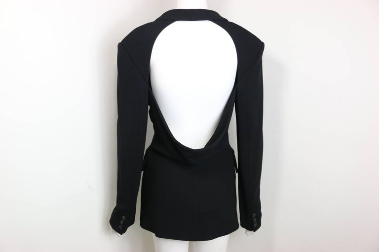 Plein Sud Black Open Back Jacket with Tube Top For Sale 1