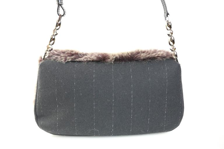 Christian Dior Rabbit Fur Saddle Hobo Bag (Limited Edition) In New never worn Condition For Sale In Sheung Wan, HK
