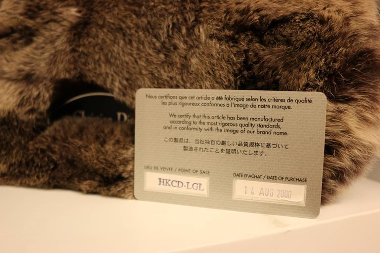Christian Dior Rabbit Fur Saddle Hobo Bag (Limited Edition) For Sale 1