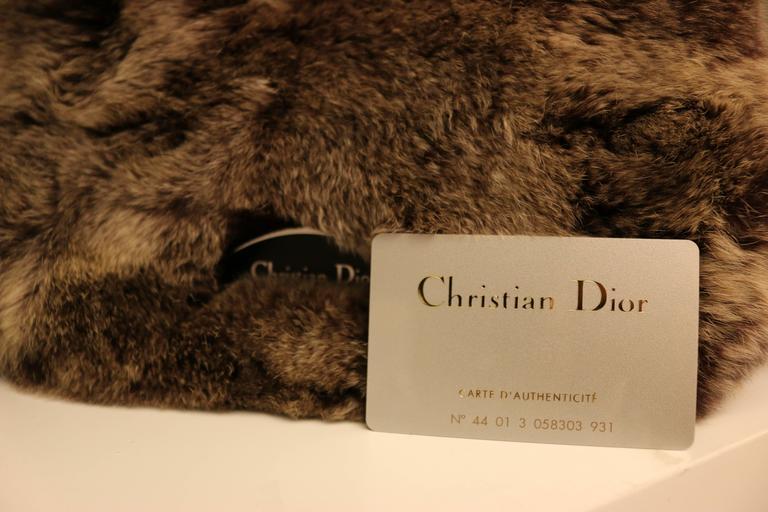 Women's Christian Dior Rabbit Fur Saddle Hobo Bag (Limited Edition) For Sale