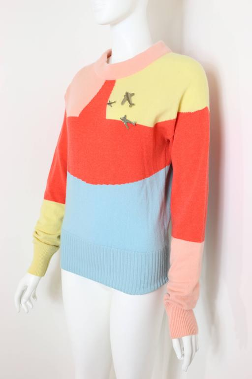 Chanel Colour Blocked Cashmere Sweater 4