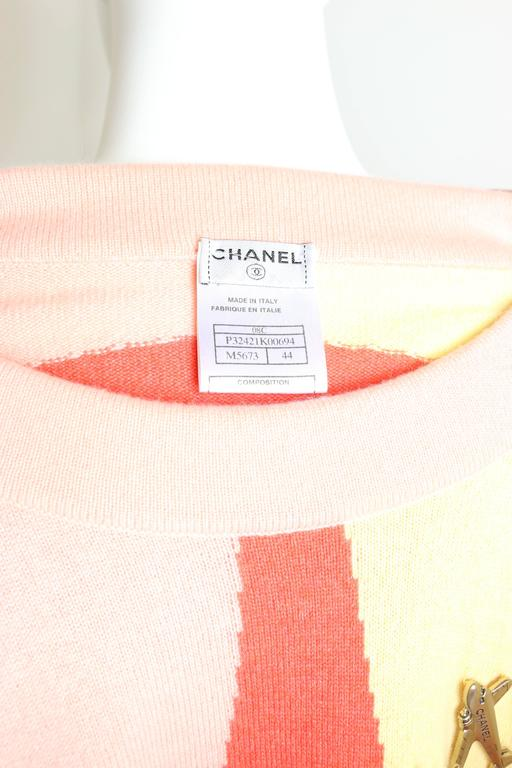 Chanel Colour Blocked Cashmere Sweater 7