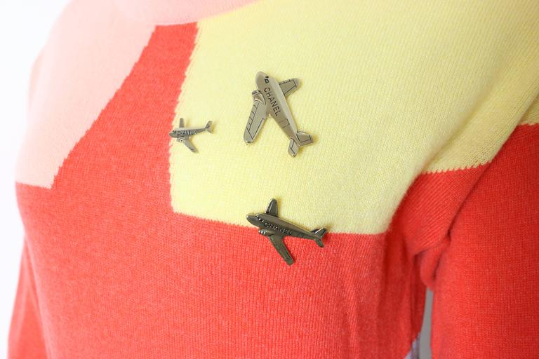 Chanel Colour Blocked Cashmere Sweater 2