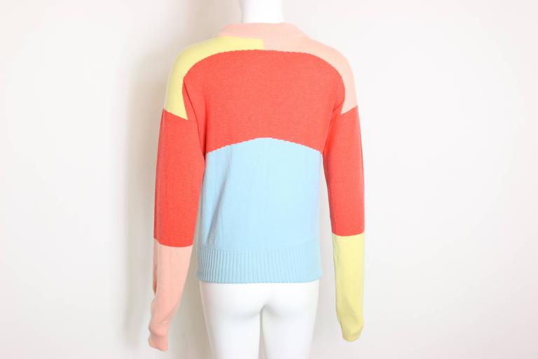 Chanel Colour Blocked Cashmere Sweater 6