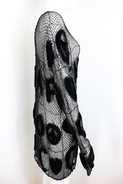 Moschino Chic and Cheap Black See Through Knitted Dress For Sale 1