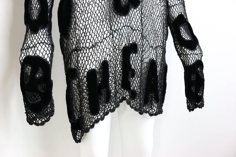 Moschino Chic and Cheap Black See Through Knitted Dress 3