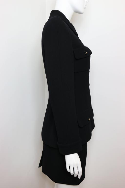 Chanel Black Wool Suit 4