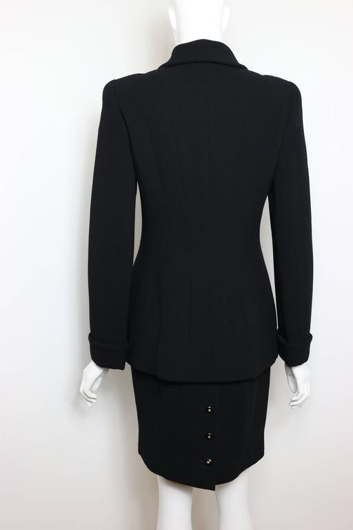 Chanel Black Wool Suit 5