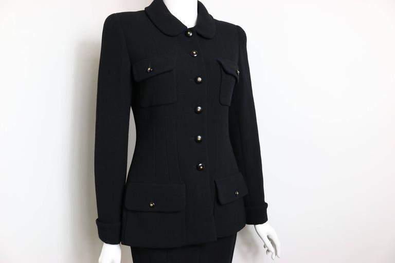 Chanel Black Wool Suit 2