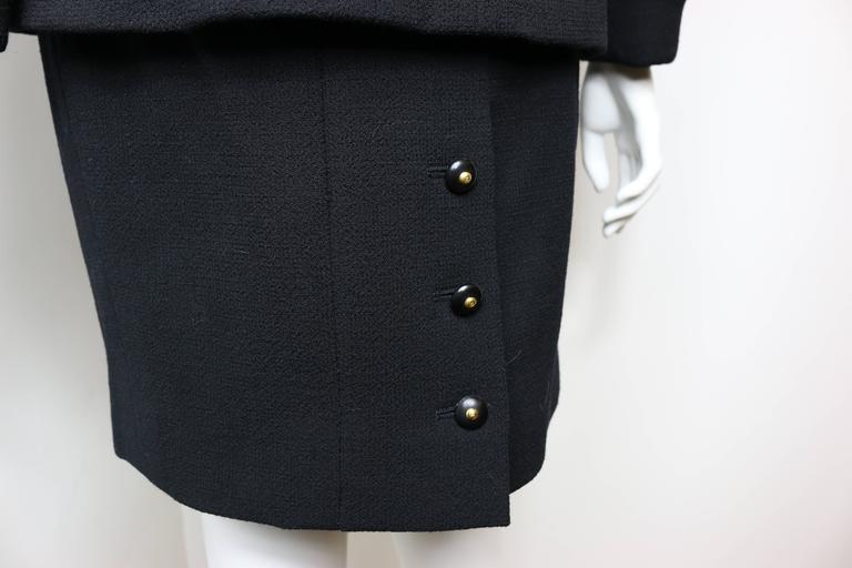 Chanel Black Wool Suit 6
