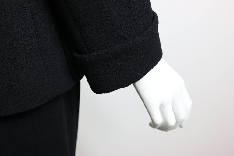 Chanel Black Wool Suit 7