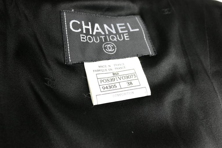 Chanel Black Wool Suit 10