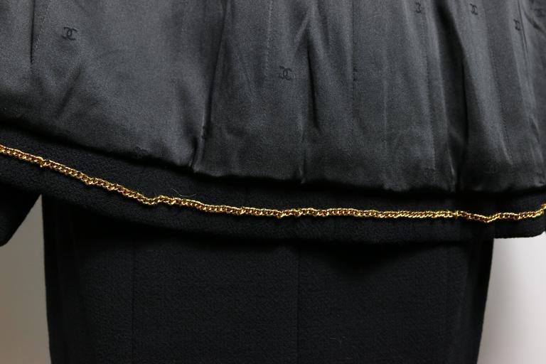 Chanel Black Wool Suit 9