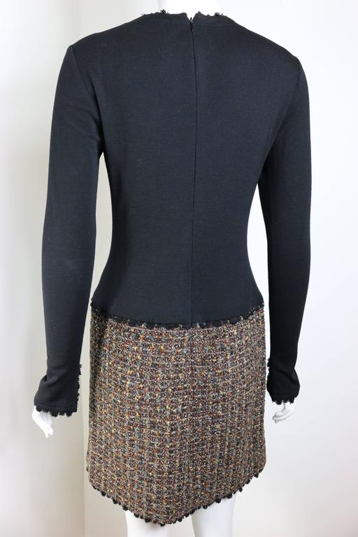 Fall 1994 Chanel Brown Wool Tweed Long Coat and Dress  For Sale 4
