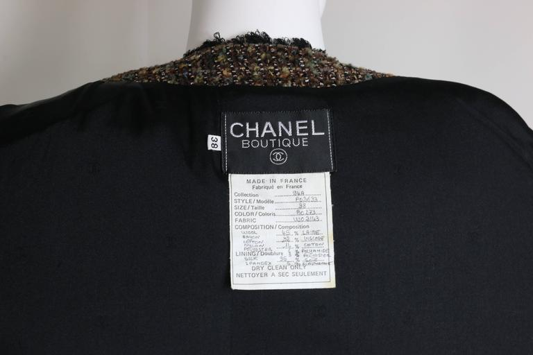 Fall 1994 Chanel Brown Wool Tweed Long Coat and Dress  For Sale 5