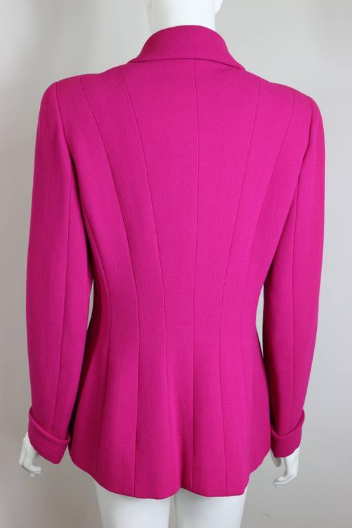 Women's Chanel Fuchsia Boucle Wool Jacket  For Sale