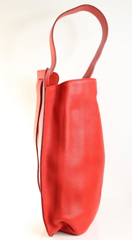Gianni Versace Couture Red Leather Convertible Backpack ...
