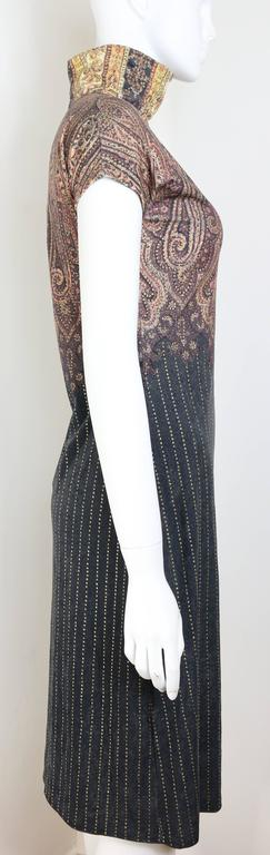 Black Vintage 90s Roberto Cavalli Art Collection Dress and Long Cardigan  For Sale