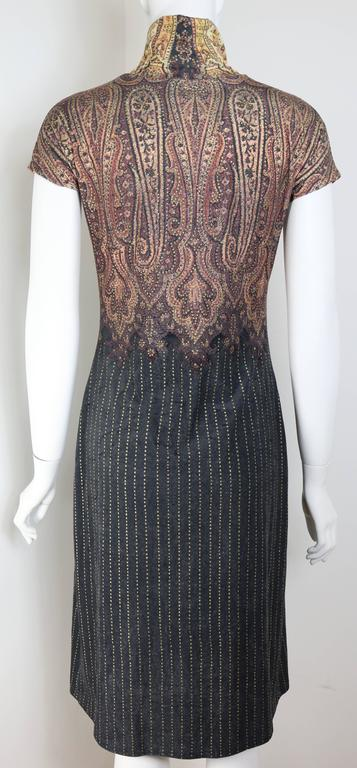 Vintage 90s Roberto Cavalli Art Collection Dress and Long Cardigan  In New Condition For Sale In Sheung Wan, HK
