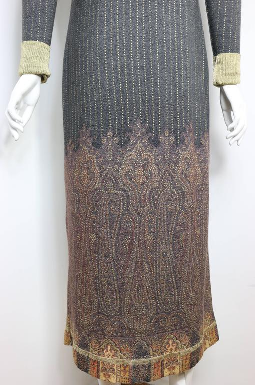 Women's Vintage 90s Roberto Cavalli Art Collection Dress and Long Cardigan  For Sale