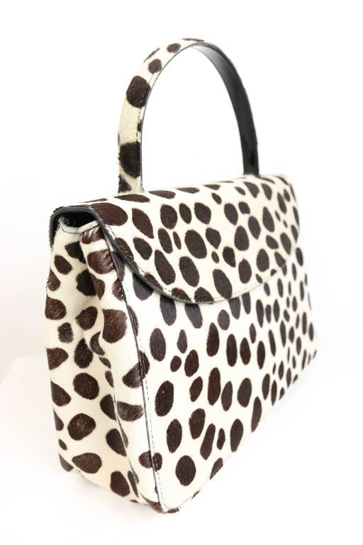 Prada Leopard Pony Hair Flap Handbag 2