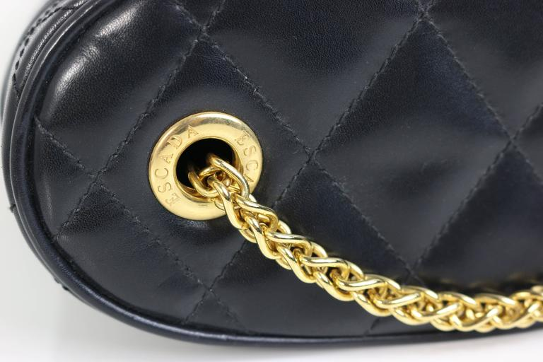 Escada Black Leather Quilted Bag  3