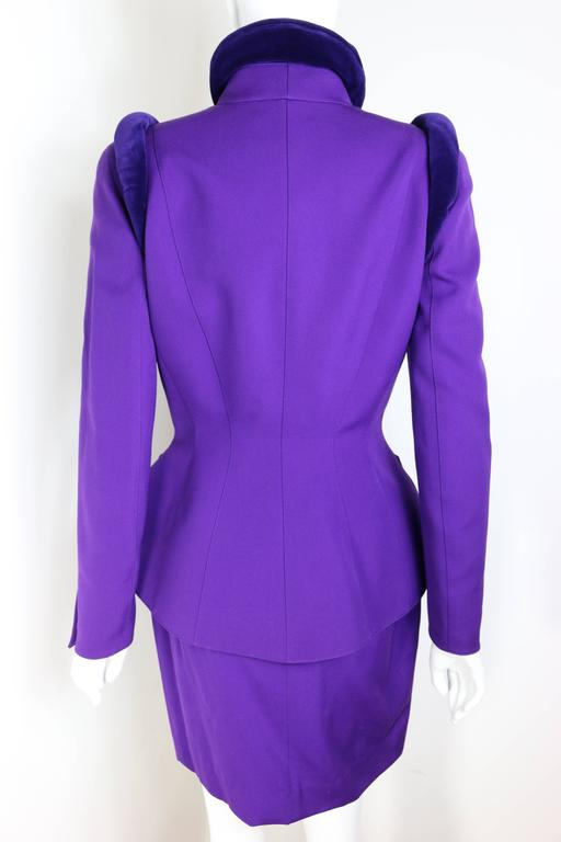 Thierry Mugler Purple Skirt Suit Ensemble  2
