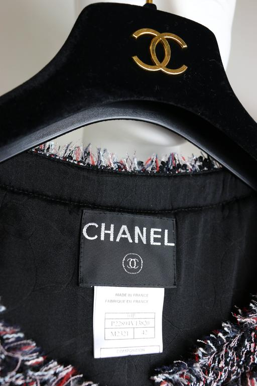 Chanel Classic Multi-Colored Tweed Jacket 5