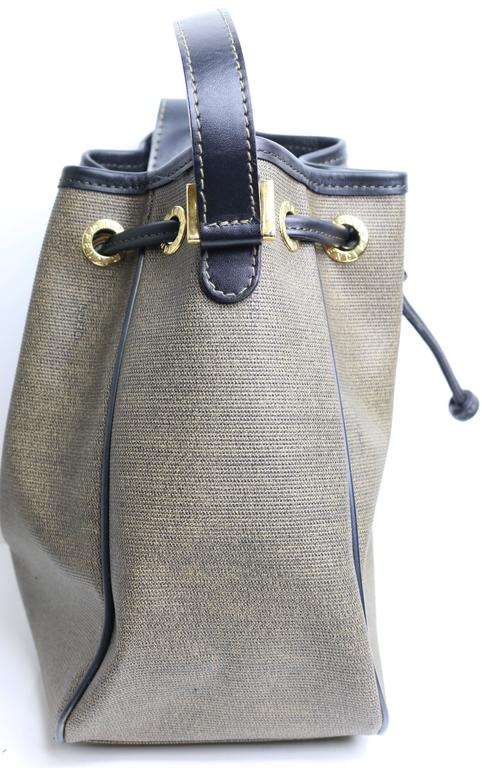 1188e265323e Gray Vintage Fendi Brown And Tan Coated Canvas Bucket Bag For Sale