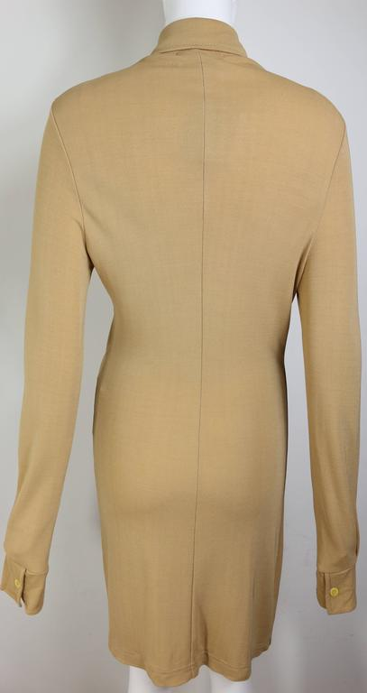 Brown Paco Rabanne Beige Belted Jumper Dress For Sale