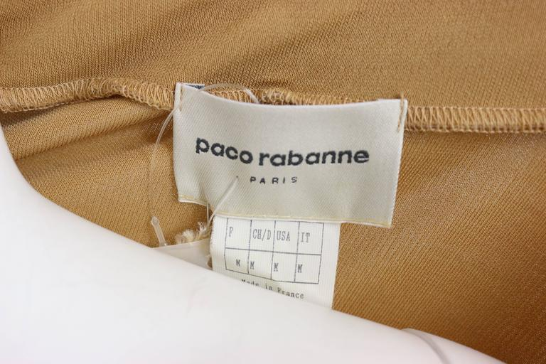 Paco Rabanne Beige Belted Jumper Dress For Sale 1