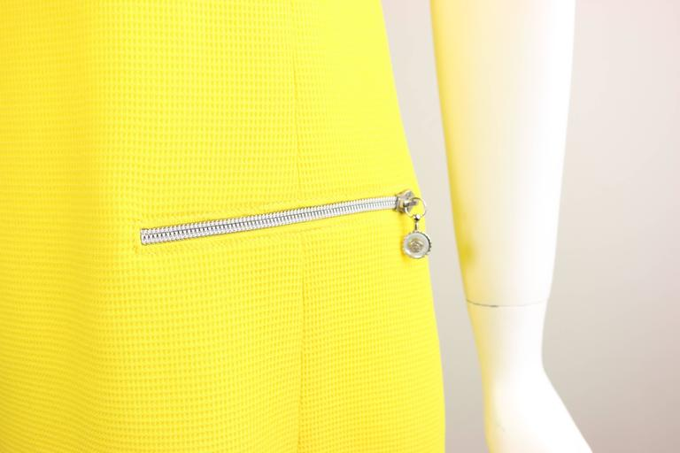 Gianni Versace Couture Yellow Dress With Medusa Zippers In New Condition For Sale In Sheung Wan, HK
