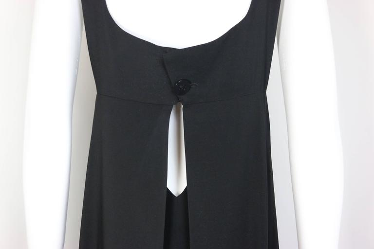 Chanel Black A-Line Jersey Maxi Dress In Excellent Condition For Sale In Sheung Wan, HK