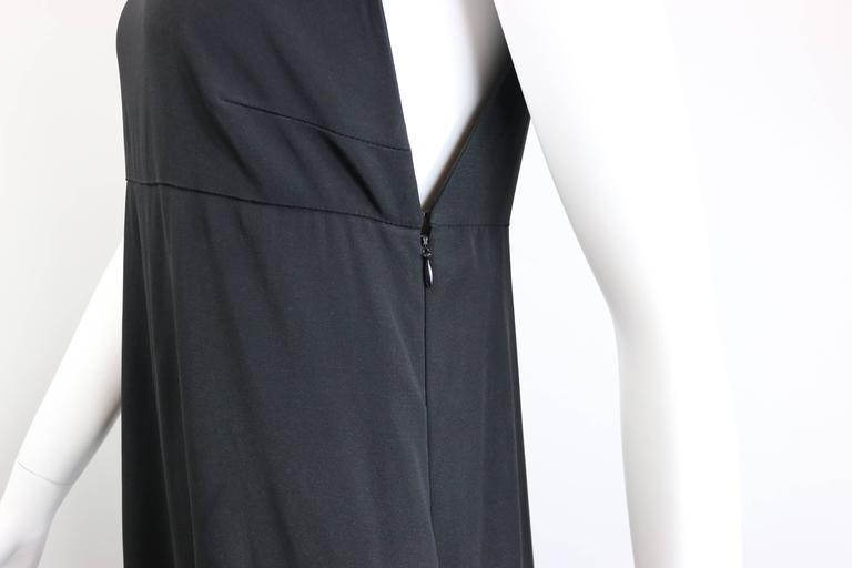 Women's Chanel Black A-Line Jersey Maxi Dress For Sale