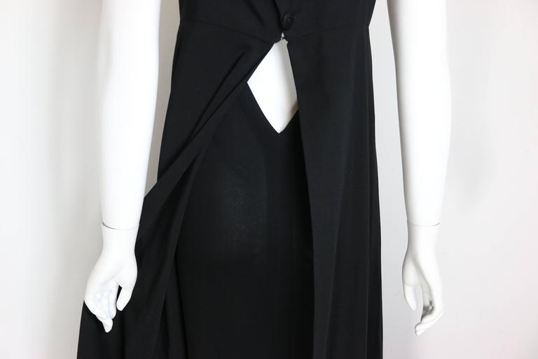 Chanel Black A-Line Jersey Maxi Dress For Sale 1