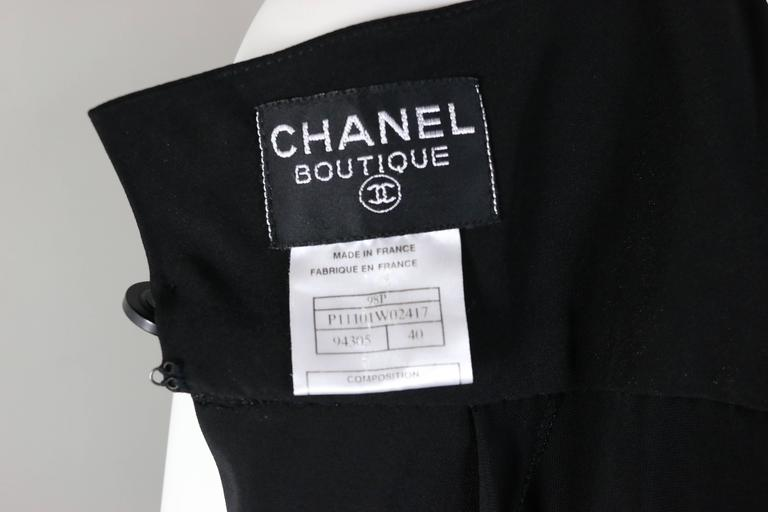 Chanel Black A-Line Jersey Maxi Dress For Sale 2