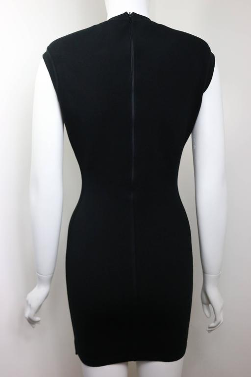 Azzedine Alaia Black Jersey Body Conscious Sleeveless Mini Dress  In Excellent Condition For Sale In Sheung Wan, HK