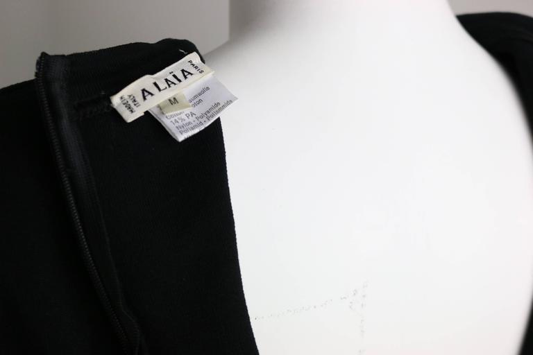 Azzedine Alaia Black Jersey Body Conscious Sleeveless Mini Dress  For Sale 1