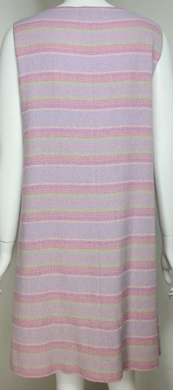 Women's Chanel Multi-Colored Wool Blend Striped Tweed Dress For Sale