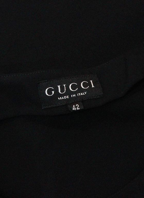 Gucci By Tom Ford Mini Black Dress For Sale 2