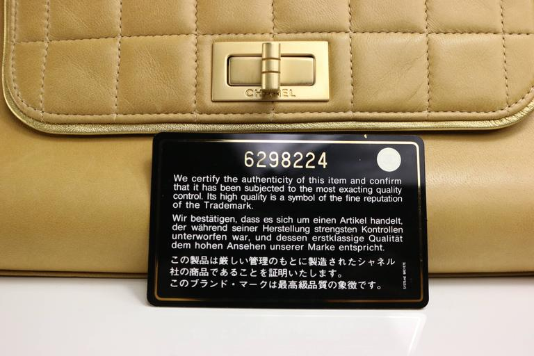 Women's Chanel Camel Leather Flap Bag For Sale