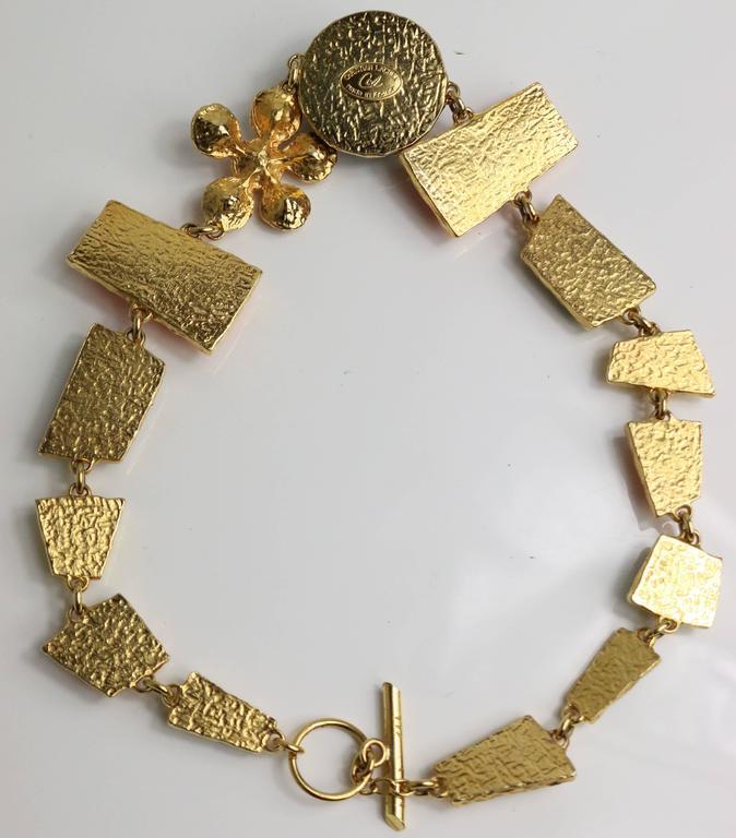 Christian Lacroix Multi Colour Shapes Gripoix & Flower Rhinestones Necklace  7