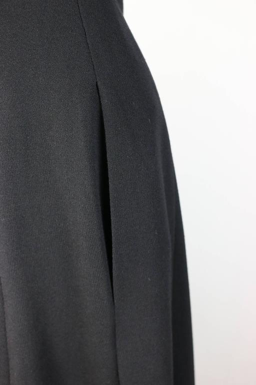 Chanel Black Wool A-Line Long Skirt  In Excellent Condition For Sale In Sheung Wan, HK