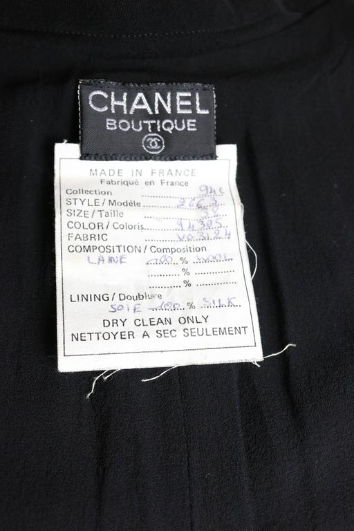 Chanel Black Wool A-Line Long Skirt  For Sale 1