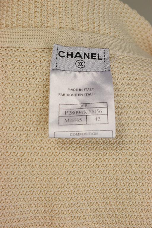 Chanel Beige Silk Three-Quarter Sleeve Cardigan 5