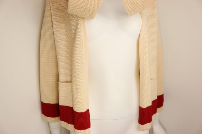 Chanel Beige Silk Three-Quarter Sleeve Cardigan In Excellent Condition For Sale In Sheung Wan, HK