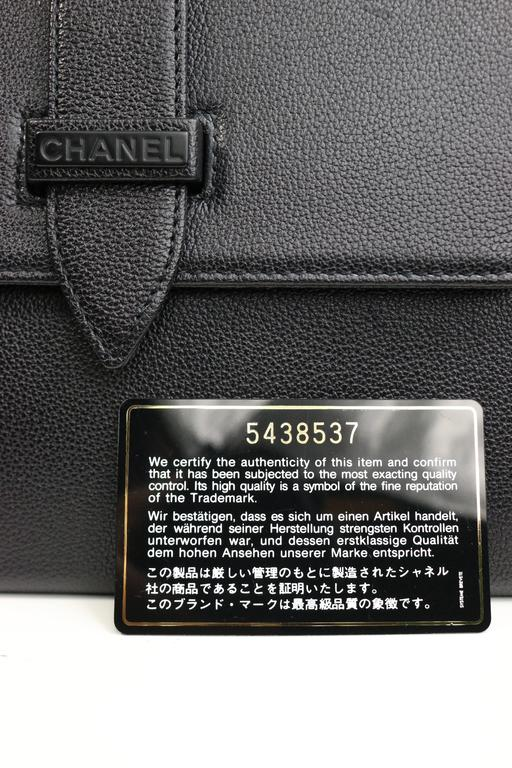 Chanel Black Caviar Flap Handbag  For Sale 4