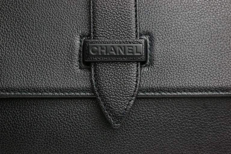Chanel Black Caviar Flap Handbag  For Sale 1